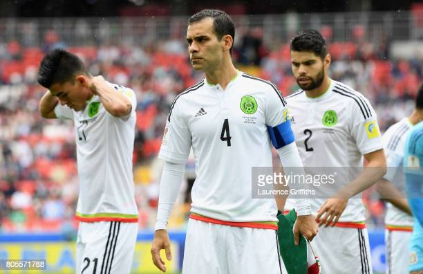 Rafael Marquez of Mexico looks on prior to the FIFA Confederations Cup Russia 2017 PlayOff for Third Place between Portugal and Mexico at Spartak...