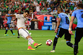 Rafael Marquez of Mexico scores a second half goal against the Uruguay during the 2016 Copa America Centenario Group C match at University of Phoenix...