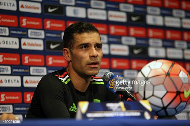 Rafael Marquez of Mexico speaks during a Mexico press conference at Rose Bowl Stadium on October 09 2015 in Pasadena United States