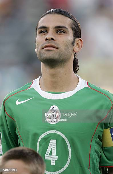 Rafael Marquez of Mexico stands at midfield up prior to their 2006 World Cup Qualifying match against the USA at Crew Stadium on Septermber 3 2005 in...