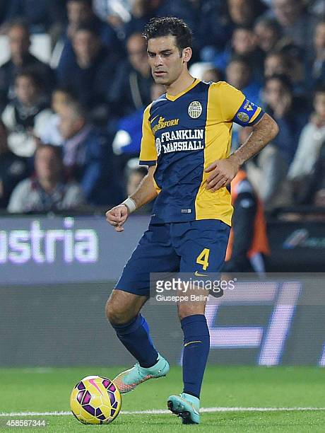 Rafael Marquez of Verona in action during the Serie A match between AC Cesena and Hellas Verona FC at Dino Manuzzi Stadium on November 3 2014 in...