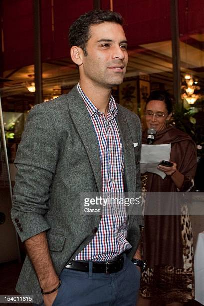 Rafael Marquez poses for a photo during the conference about the second gala of Rafael Marquez Foundation Soccer and Heart on 11 October 2012 in...