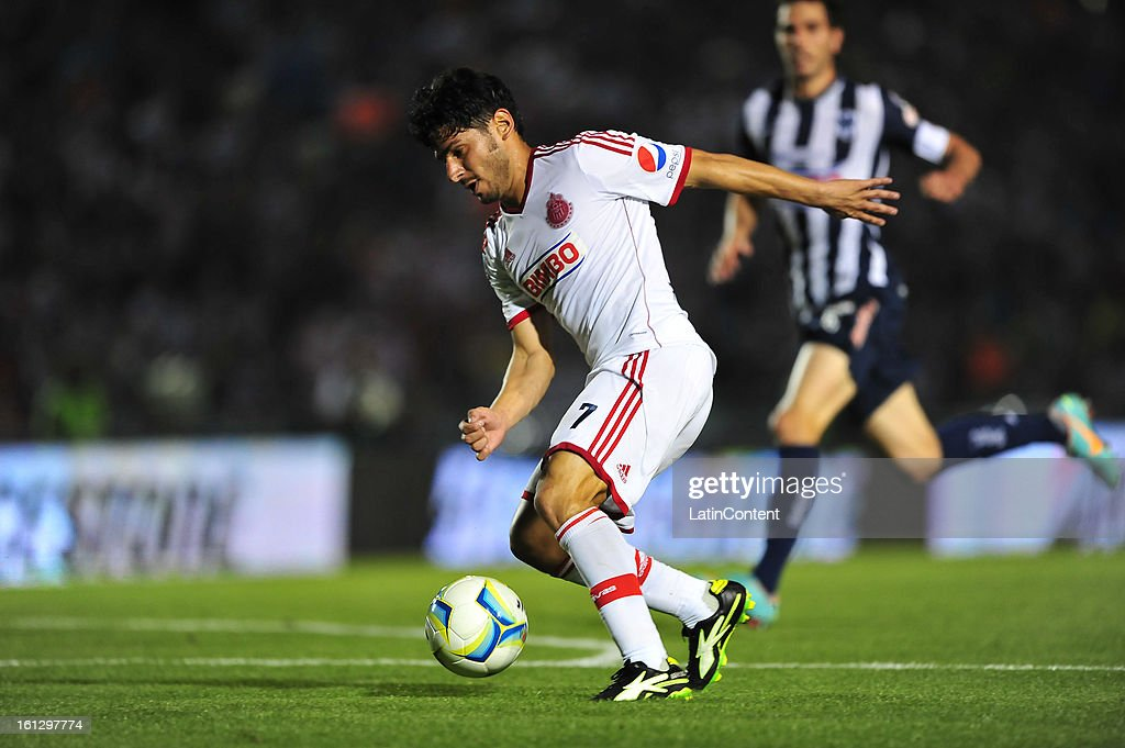 Rafael Marquez runs with the ball during the match between Monterrey and Chivas as part of the Clausura 2013 on February 9, 2013 in Monterrey, Mexico.