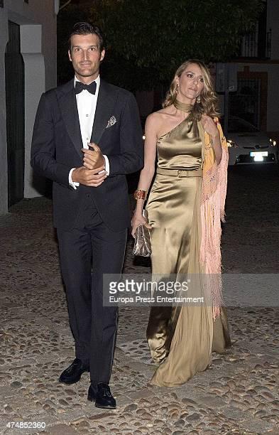 Rafael Medina and Laura Vecino are seen at Casa Palacio Salinas on April 18 2015 in Seville Spai