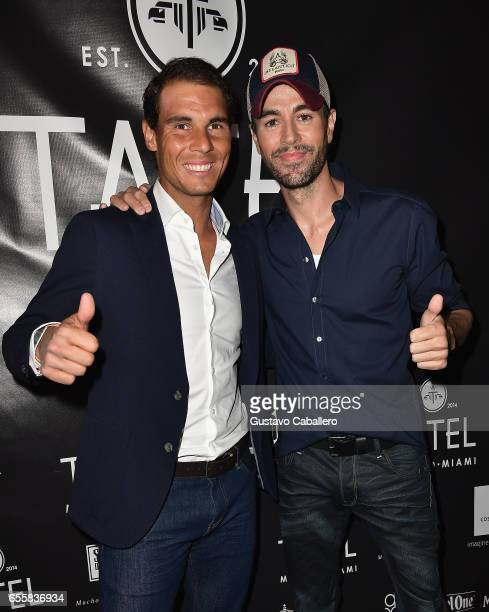 Rafael Nadal and Enrique Iglesias attends the Grand Opening Celebration of TATEL Miami at TATEL Miami on March 20 2017 in Miami Beach Florida