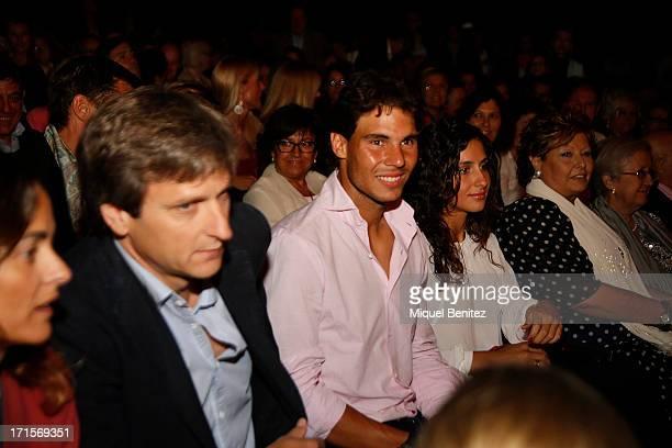 Rafael Nadal and Maria Francisca Perello attend the Julio Iglesias concert at the 'Jardins de Pedralbes Festival' on June 26 2013 in Barcelona Spain