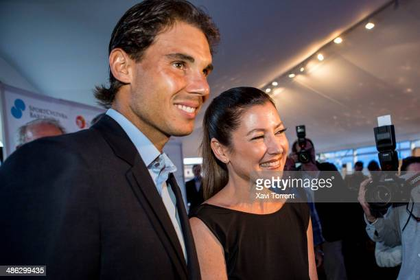 Rafael Nadal and Sara Baras attend the Sports Cultura Barcelona awards at Real Club de Tenis Barcelona on April 23 2014 in Barcelona Spain
