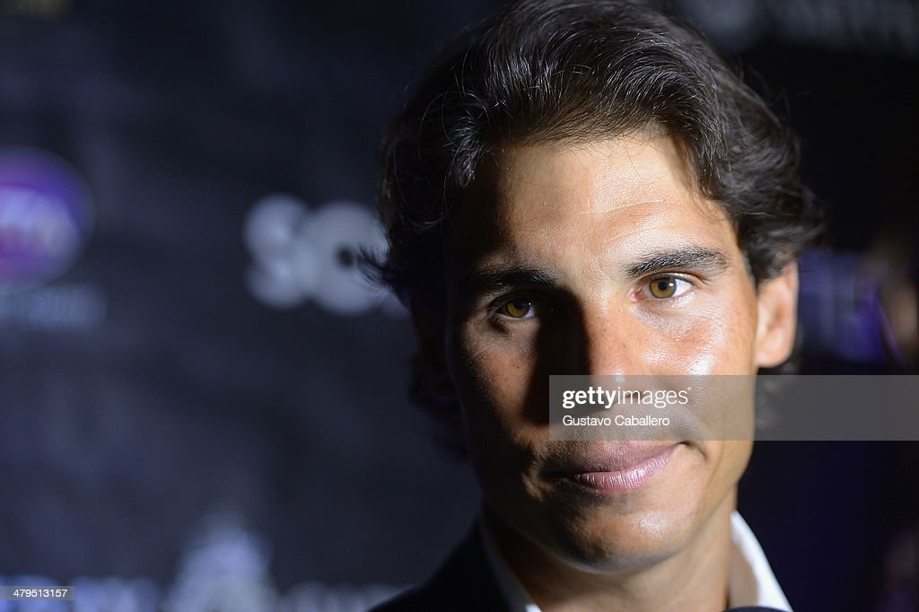 <a gi-track='captionPersonalityLinkClicked' href=/galleries/search?phrase=Rafael+Nadal&family=editorial&specificpeople=194996 ng-click='$event.stopPropagation()'>Rafael Nadal</a> attends the players party held at Cavalli Miami on March 18, 2014 in Miami Beach, Florida.