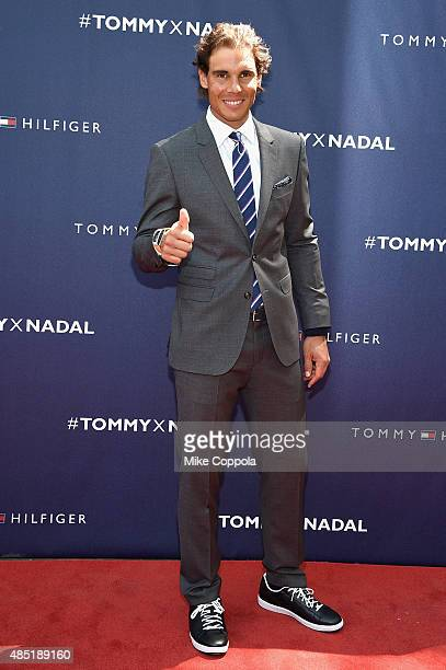 Rafael Nadal attends the Tommy Hilfiger and Rafael Nadal Global Brand Ambassadorship Launch at Bryant Park on August 25 2015 in New York City