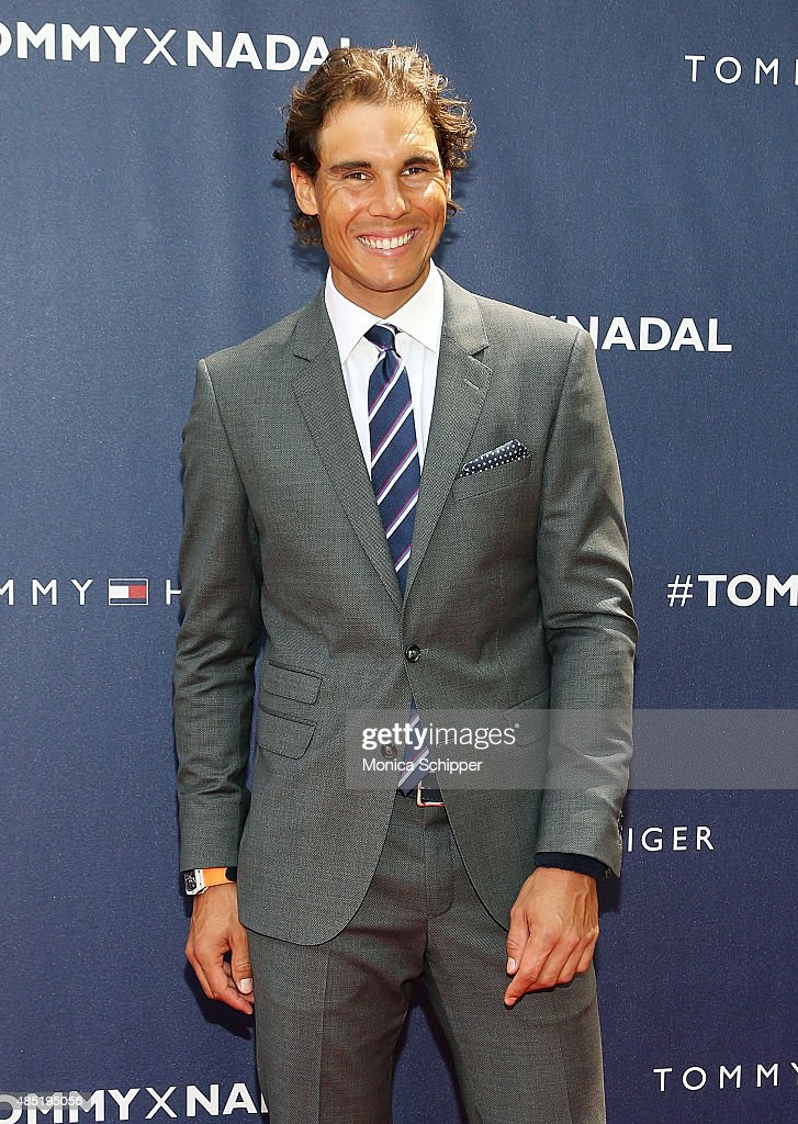 <a gi-track='captionPersonalityLinkClicked' href=/galleries/search?phrase=Rafael+Nadal&family=editorial&specificpeople=194996 ng-click='$event.stopPropagation()'>Rafael Nadal</a> attends the Tommy Hilfiger And <a gi-track='captionPersonalityLinkClicked' href=/galleries/search?phrase=Rafael+Nadal&family=editorial&specificpeople=194996 ng-click='$event.stopPropagation()'>Rafael Nadal</a> Global Brand Ambassadorship Launch Event at Bryant Park on August 25, 2015 in New York City.