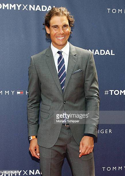 Rafael Nadal attends the Tommy Hilfiger And Rafael Nadal Global Brand Ambassadorship Launch Event at Bryant Park on August 25 2015 in New York City