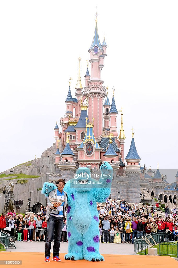 Rafael Nadal celebrates his record eighth French Open title at Disneyland Resort Paris on June 10 2013 in Paris France