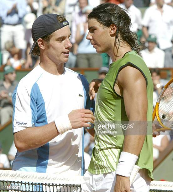 Rafael Nadal defeats Richard Gasquet 64 63 62 in the 3rd round of the Paris Open on the May 27 2005