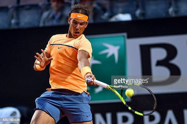 Rafael Nadal during the ATP match Nadal vs Philip Kohlschreiber at the Internazionali BNL d'Italia 2016 at the Foro Italico on May 11 2016 in Rome...