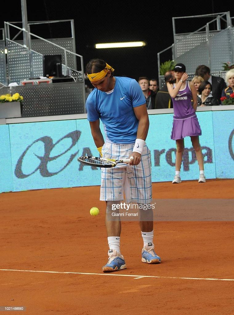 Rafael Nadal, ESP, in the tennis 'Mutua Madrilena Madrid Open', 8th May 2010, 'La Caja Magica', Madrid, Spain.