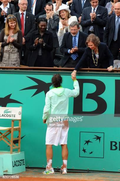 Rafael NADAL et la reine d'Espagne Finale Simple Messieurs Roland Garros 2010