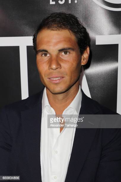 Rafael Nadal is seen arriving at the grand opening celebration of TATEL Miami on March 20 2017 in Miami Beach Florida