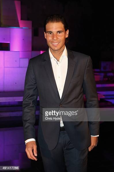 Rafael Nadal of Spain arrives at the 2015 China Open Player Party at The Birds Nest on October 5 2015 in Beijing China