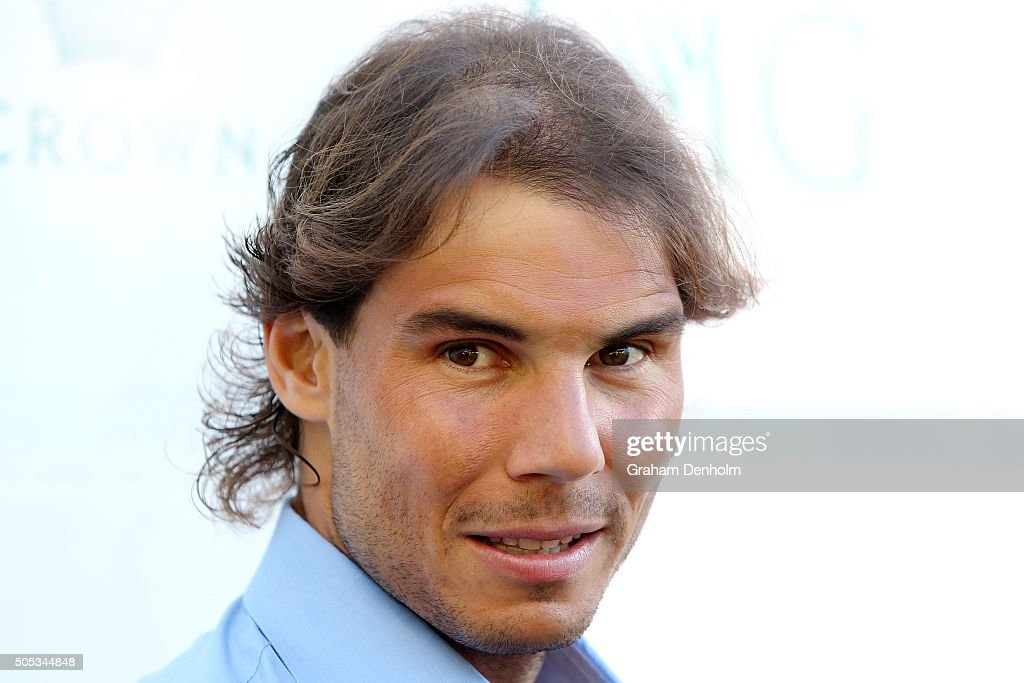 <a gi-track='captionPersonalityLinkClicked' href=/galleries/search?phrase=Rafael+Nadal&family=editorial&specificpeople=194996 ng-click='$event.stopPropagation()'>Rafael Nadal</a> of Spain arrives at the 2016 Australian Open party at Crown Entertainment Complex on January 17, 2016 in Melbourne, Australia.
