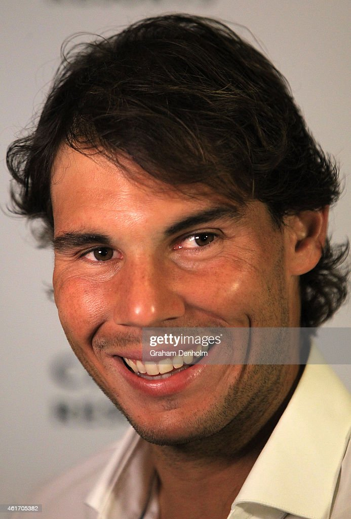 Rafael Nadal of Spain arrives for Crown's IMG@23 Tennis Players' Party at Crown Entertainment Complex on January 18, 2015 in Melbourne, Australia.