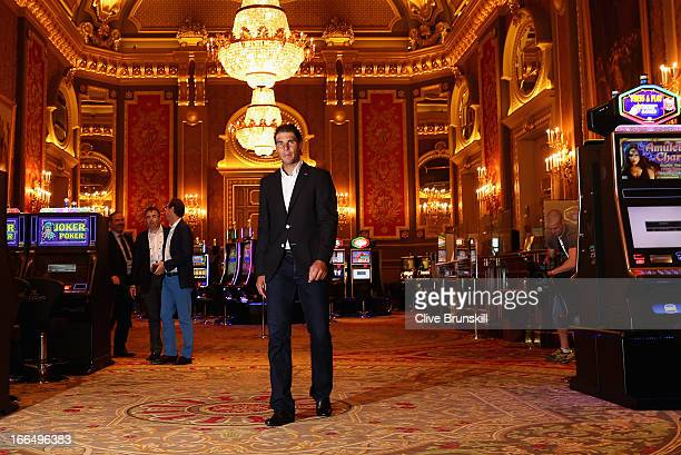 Rafael Nadal of Spain arrives for the tournament draw at the Monte Carlo casino prior to the ATP Monte Carlo Masters at MonteCarlo Sporting Club on...