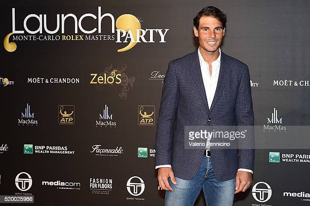 Rafael Nadal of Spain attends the Launch Party at Zelo's Monaco during preview day of the ATP Monte Carlo Masters at the MonteCarlo Country Club on...