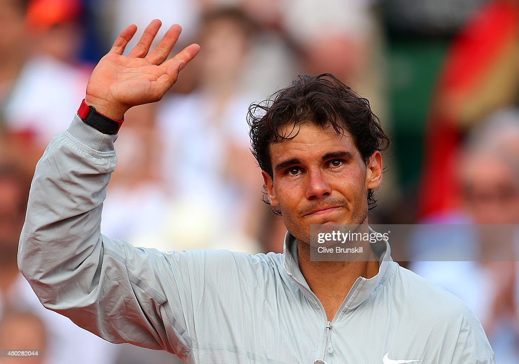 Rafael Nadal of Spain cries as he celebrates after his victory in his men's singles final match against Novak Djokovic of Serbia on day fifteen of the French Open at Roland Garros on June 8, 2014 in Paris, France.