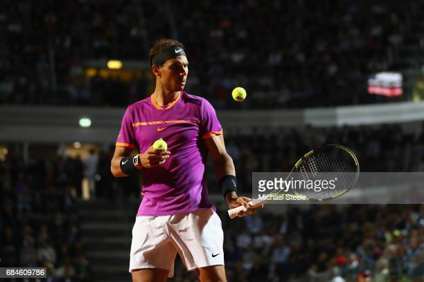 Rafael Nadal of Spain during the men's third round match against Jack Sock of USA on Day Five of the Internazionali BNL d'Italia 2017 at the Foro...