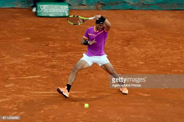 Rafael Nadal of Spain during the Monte Carlo Rolex Masters 2017 on April 21 2017 in Monaco Monaco