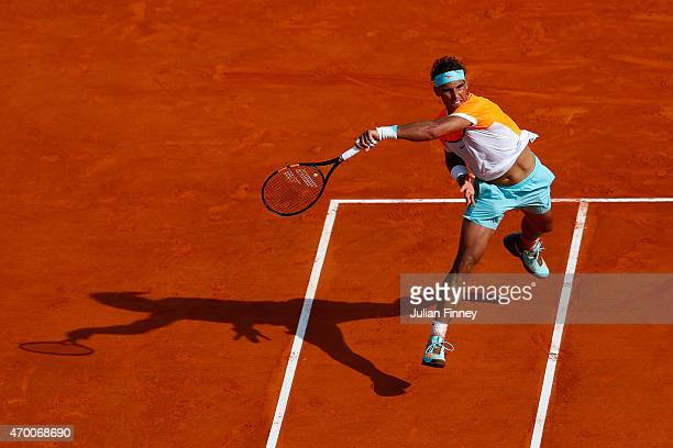 Rafael Nadal of Spain in action against David Ferrer of Spain during day six of the Monte Carlo Rolex Masters tennis at the MonteCarlo Sporting Club...