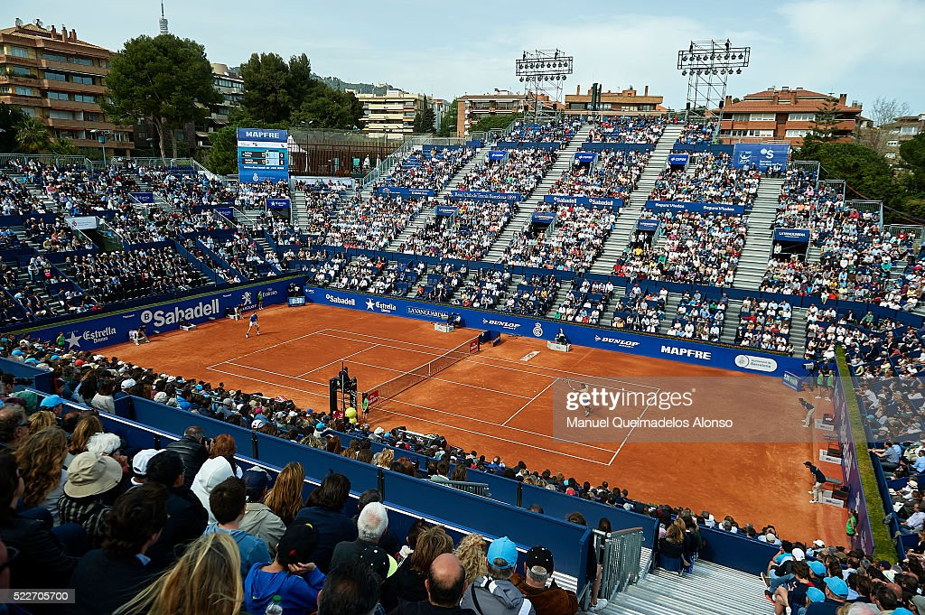 Rafael Nadal of Spain in action against Marcel Granollers of Spain during day three of the Barcelona Open Banc Sabadell at the Real Club de Tenis...