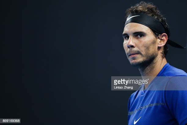 Rafael Nadal of Spain looks on after winning the Men's Singles final against Nick Kyrgios of Australia on day nine of the 2017 China Open at the...