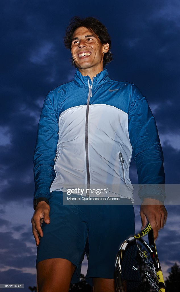 <a gi-track='captionPersonalityLinkClicked' href=/galleries/search?phrase=Rafael+Nadal&family=editorial&specificpeople=194996 ng-click='$event.stopPropagation()'>Rafael Nadal</a> of Spain looks on in front the Font Magica during the ATP 500 World Tour Barcelona Open Banc Sabadell 2013 tennis tournament at the Real Club de Tenis on April 22, 2013 in Barcelona, Spain.