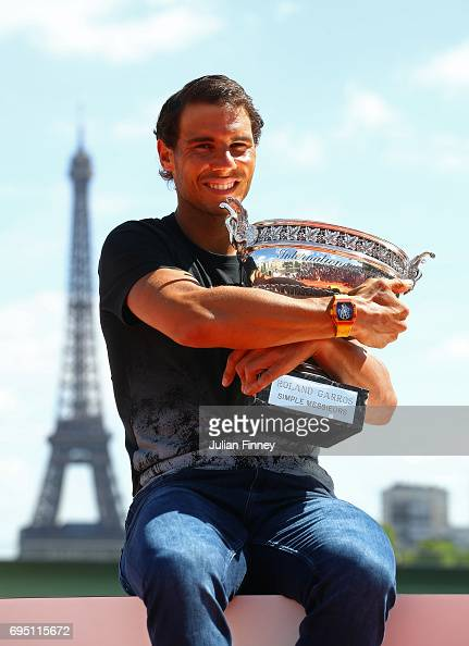 Rafael Nadal Photocall After French Open Victory : Photo d'actualité