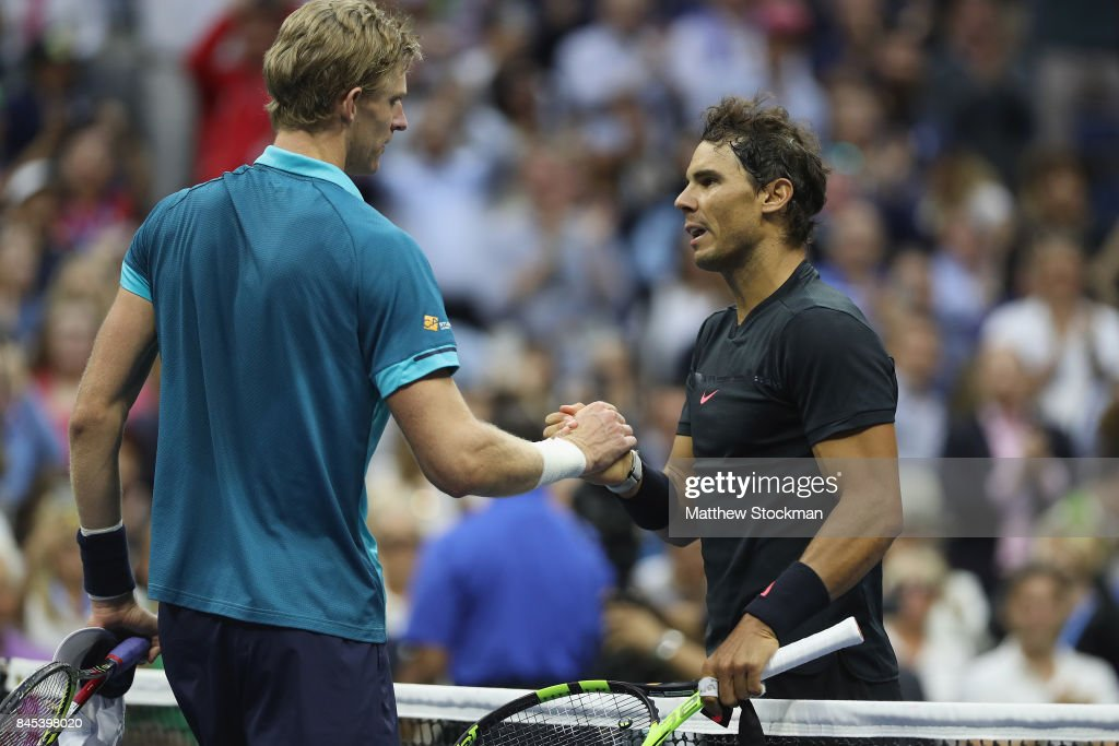 Rafael Nadal of Spain shakes hands after defeating Kevin Anderson of South Africa after their Men's Singles Finals match on Day Fourteen of the 2017 US Open at the USTA Billie Jean King National Tennis Center on September 10, 2017 in the Flushing neighborhood of the Queens borough of New York City. Rafael Nadal defeated Kevin Anderson in the third set with a score of 6-3, 6-3, 6-4.