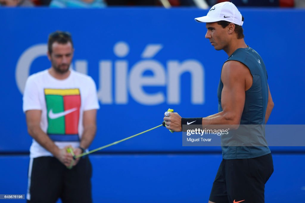 Rafael Nadal Training Session - Telcel ATP Mexican Open 2017 : Photo d'actualité