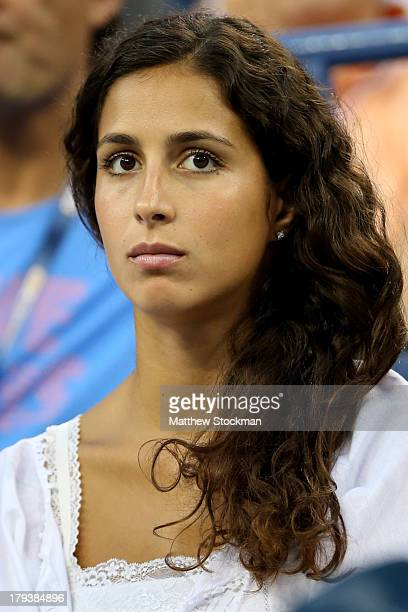 Rafael Nadal of Spain's girlfriend Xisca Perello attends his men's singles fourth round match against Philipp Kohlschreiber of Germany on Day Eight...