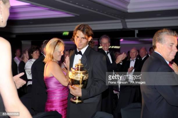 Rafael Nadal winner of the Men's Singles Championship arrives at the Champions Dinner in Park Lane London