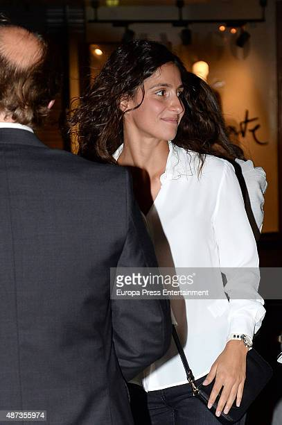 Rafael Nadal's girlfriend Xisca Perello attends the funeral chapel for musician Rafael Nadal grandfather of tennis player Rafael Nadal on September 8...