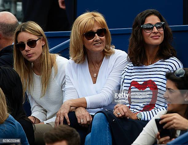 Rafael Nadal's girlfriend Xisca Perello sister Isabel Nadal and mother Ana Maria Parera are seen during day four of the Barcelona Open Banc Sabadell...