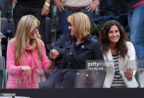 R Rafael Nadal's sister Isabel Nadal his mother Ana María Parera and girlfriend Maria Francisca Perello in the stands after his victory against...