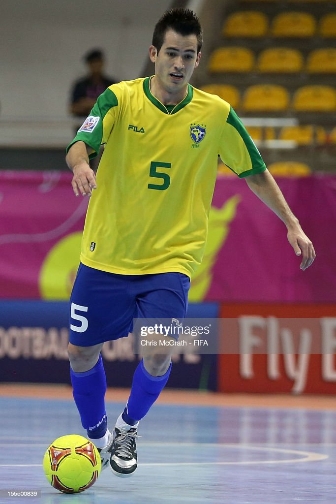 Rafael #5 of Brazil makes a break against Libya during the FIFA Futsal World Cup, Group C match between Brazil and Libya at Korat Chatchai Hall on November 4, 2012 in Nakhon Ratchasima, Thailand.