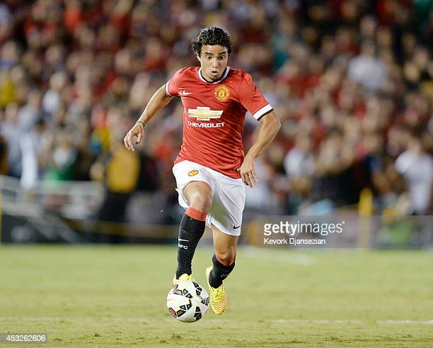 Rafael of Manchester United during the preseason friendly match between Los Angeles Galaxy and Manchester United on July 23 2014 at the Rose Bowl in...