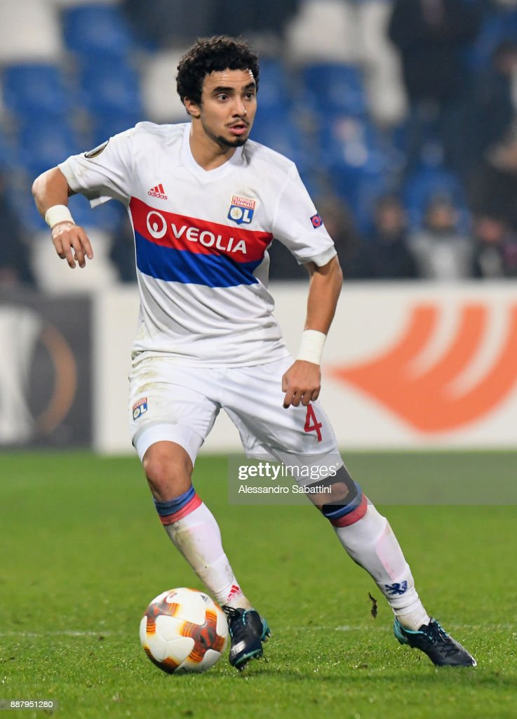 Rafael of Olympique Lyon in action during the UEFA Europa League group E match between Atalanta and Olympique Lyon at Mapei Stadium - Citta' del Tricolore on December 7, 2017 in Reggio nell'Emilia, Italy.