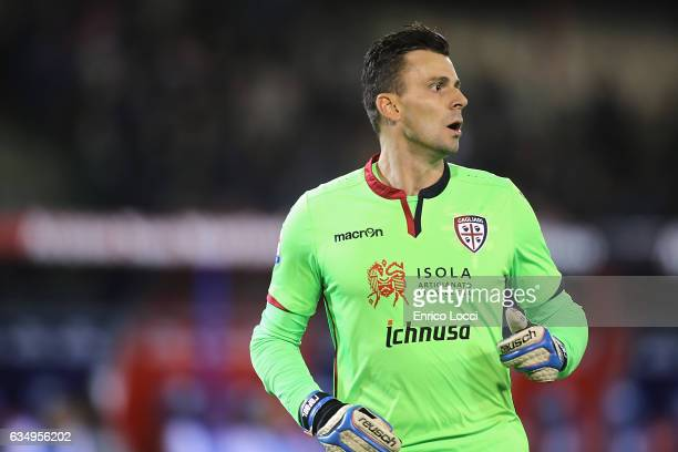 Rafael Pinheiro of Cagliari looks on during the Serie A match between Cagliari Calcio and Juventus FC at Stadio Sant'Elia on February 12 2017 in...