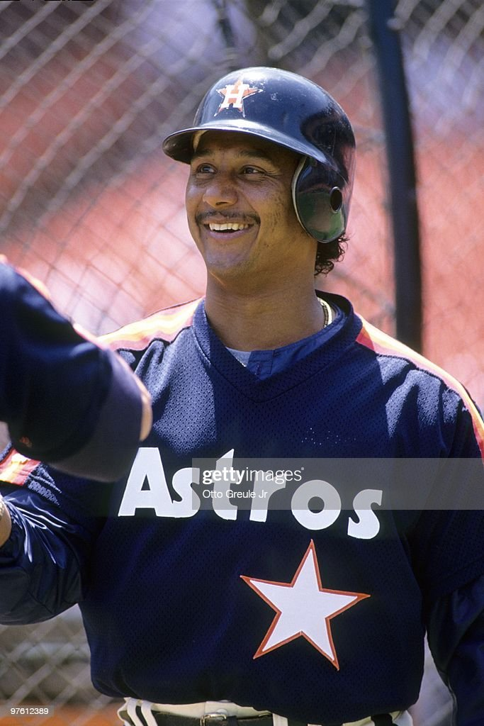 Rafael Ramirez of the Houston Astros smiles before the game against the San Francisco Giants at Candlestick Park on June 7, 1992 in San Francisco, California.