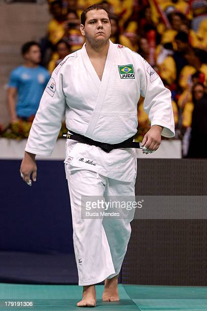 Rafael Silva of Brazil before the final the 100 kg category during a World Judo Championships at Gymnasium Maracanazinho on August 31 2013 in Rio de...