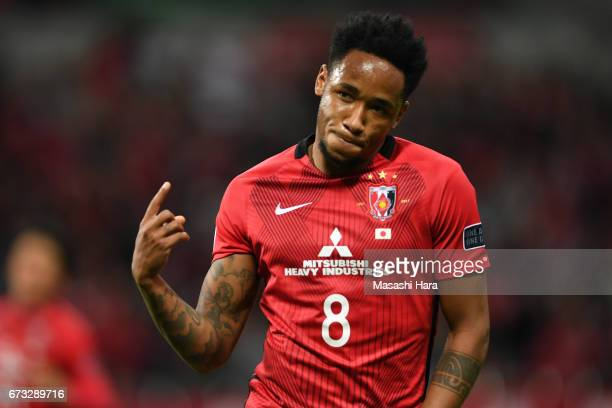 Rafael Silva of Urawa Red Diamonds celebrates the fifth goal during the AFC Champions League Group F match between Urawa Red Diamonds and Western...