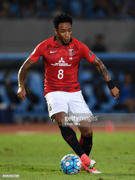 Rafael Silva of Urawa Red Diamonds in action during the AFC Champions League quarter final first leg match between Kawasaki Frontale and Urawa Red...