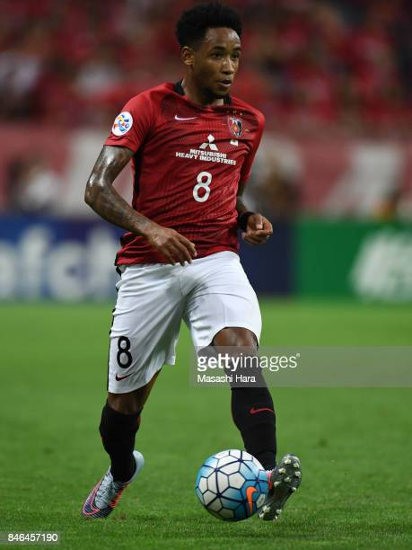 Rafael Silva of Urawa Red Diamonds in action during the AFC Champions League quarter final second leg match between Urawa Red Diamonds and Kawasaki...